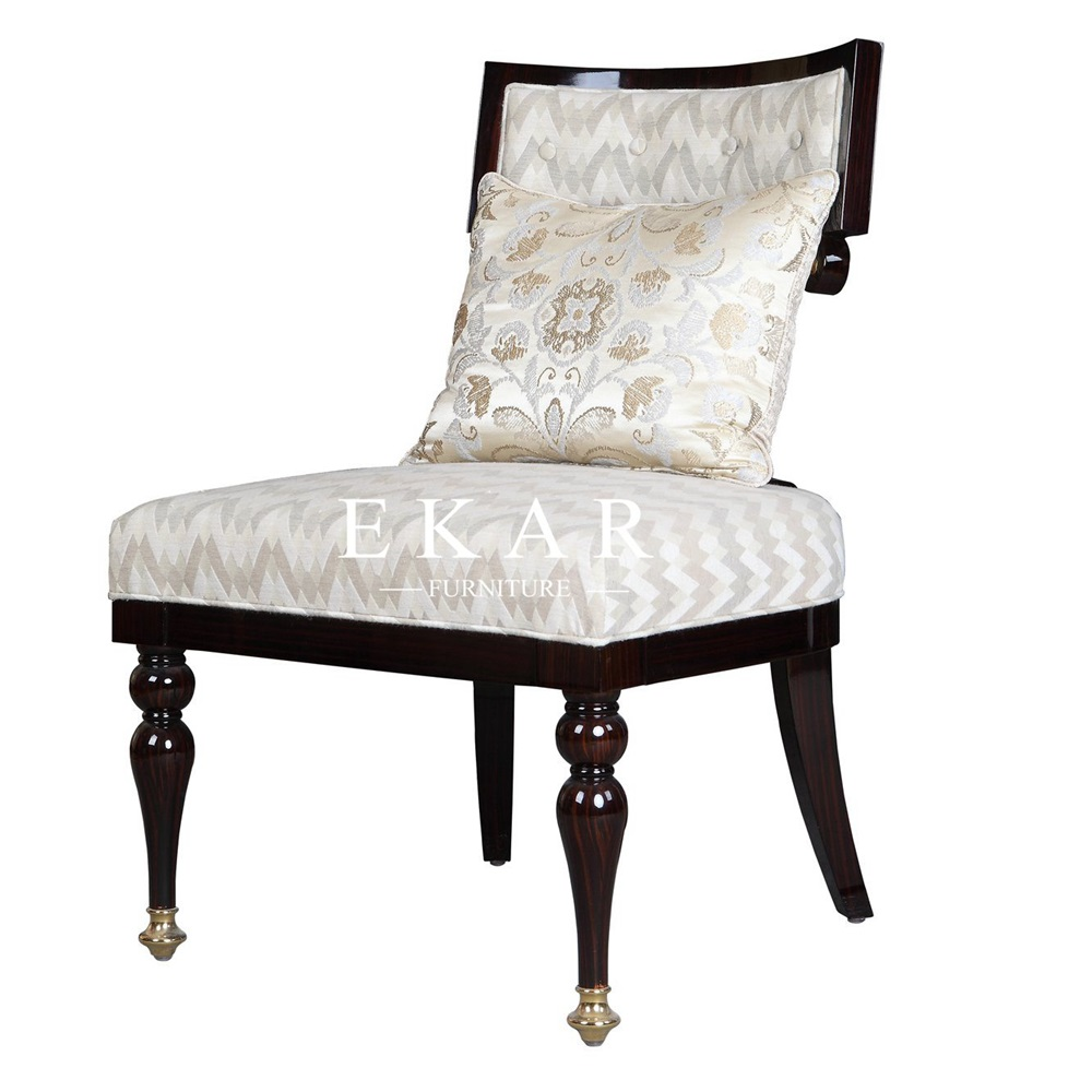 Comfy Oversized Black And White Armless Armchair With Ottoman Chair
