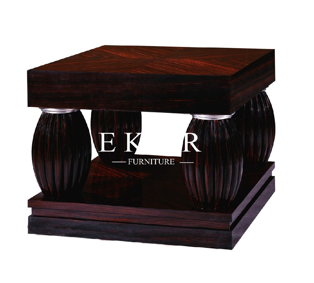 Antique Design Solid Wood Square Coffee Table Set DIMENSIONS - Width 730mm. Depth 730mm. Height 550mm  sc 1 st  Ekar Furniture & Antique Design Solid Wood Square Coffee Table Set -Ekar Furniture