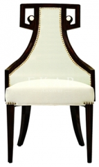Dining Chairs with Special Designed ivory upholstered