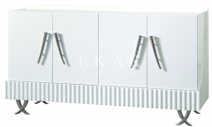 Kitchen Furniture Modern White Solid Wood Sideboard Buffet