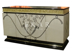 Indian Style Luxury Antique Sideboards and Buffets with Gold Foil