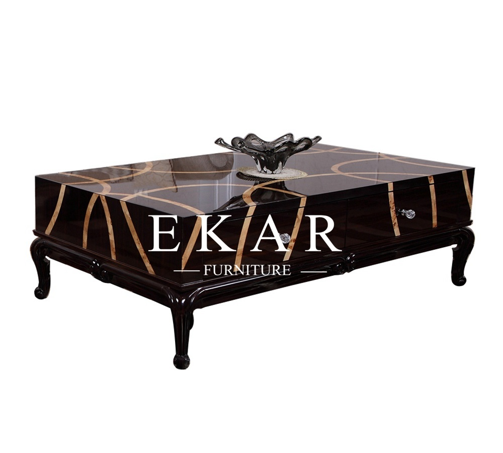 low narrow coffee end table with drawer ekar furniture. Black Bedroom Furniture Sets. Home Design Ideas
