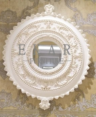 2017 The Latest Hand-carved White Wooden Decorative Mirror