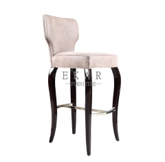The Latest Classical Design Wooden Beige Bar Stools