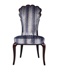 Arabian Style Upholstered Solid Wood Dining Chair