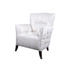 Contemporary Comfy Overstuffed White Chair Chairs