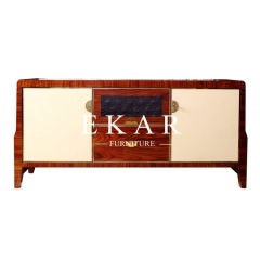 Vintage Style Mix-colored Brown and Beige Wooden TV Cabinet