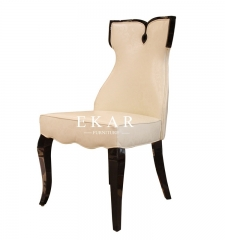 Cream And Wood Chair Casual Dining Set