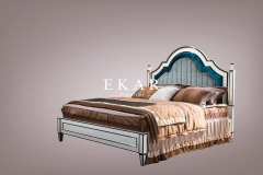 Spanish royal style fabric bedroom sets furniture king size bed
