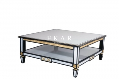Spanish Design & Gold Foil Small Side Table Living Room