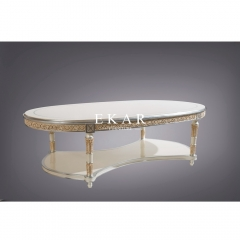 Modern Marble Top Coffee Table with stainless steel