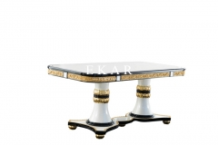 High Quality Artificial Carving Luxury Square Dining Table