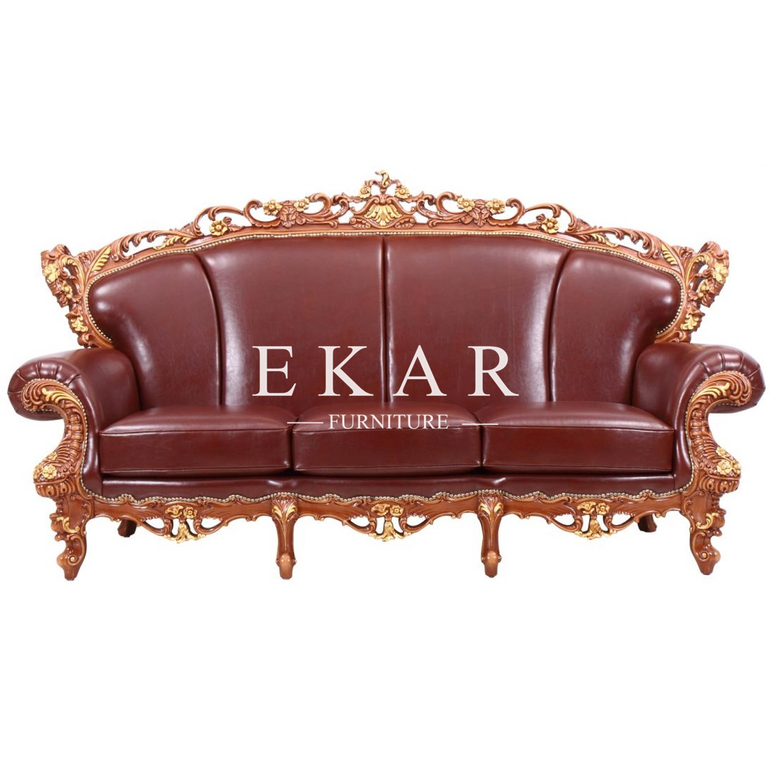 Studded Leather Sofa Couch Furniture