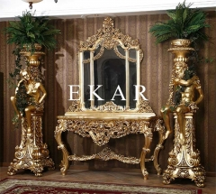 Baroque Luxury Golden Console Table