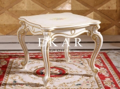 Little Side Small White Wood Square Coffee Table