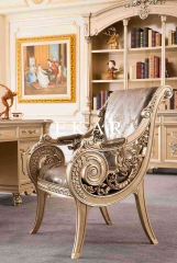 Luxury Royal Furniture Wooden Leisure Chair Lounge Chair