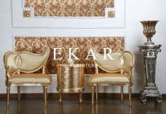 New Classical Design Golden Wood Leisure Chair