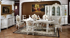 Luxury Baroque Design White Dining Table