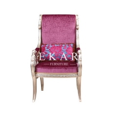 High End Classical Pink Fabric Leisure Chair