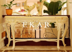 Newly Baroque Design Carved Wooden Console Table