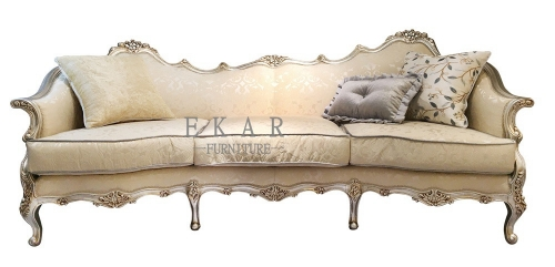Royal Classic Design Beige Sofa Cream Fabric Couch Sale