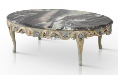 Retro Fashion Oval Granite Coffee Table