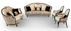 Classic French Design 7 Seater Fabric Living Room Sofa Set