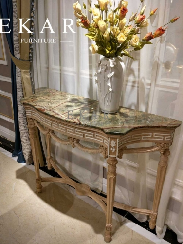 Newly Special  Designed Exquisite Console Table with Marble Top
