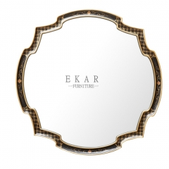 French Luxury Style Irregular Shape Hanging Mirror/Hall Mirror