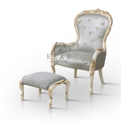 Gray Small Decorative Fabric Chairs Armchair