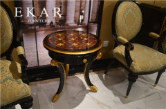 Antique Round Wooden Veneered Side Table/Corner Table/End Table  for Sofa