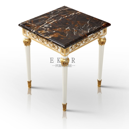 Small Vintage High Quanlity Classic End Table Marble Top Corner Table And Side Sofa Table