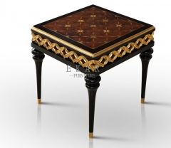 Moroccan Square Veneered Old Pine Side Table / Corner Wood Table