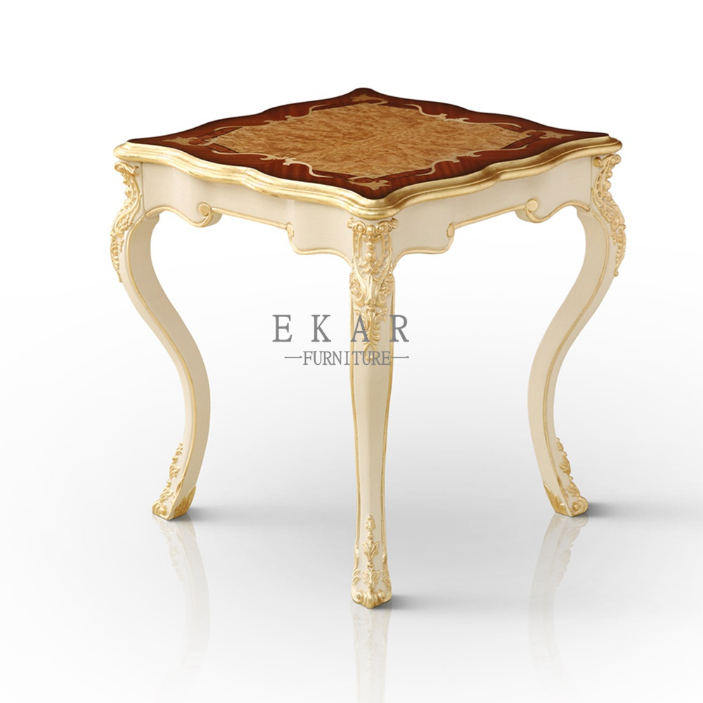 Antique square white living room end table end tables for White end tables for living room