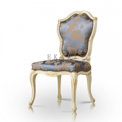 Dining Room Antique Silk Embroidered Upholstered Armless Chair