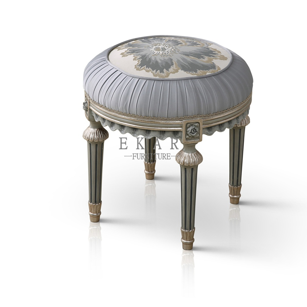 Small Round Grey Bedroom Furniture Dressing Stools Vanity