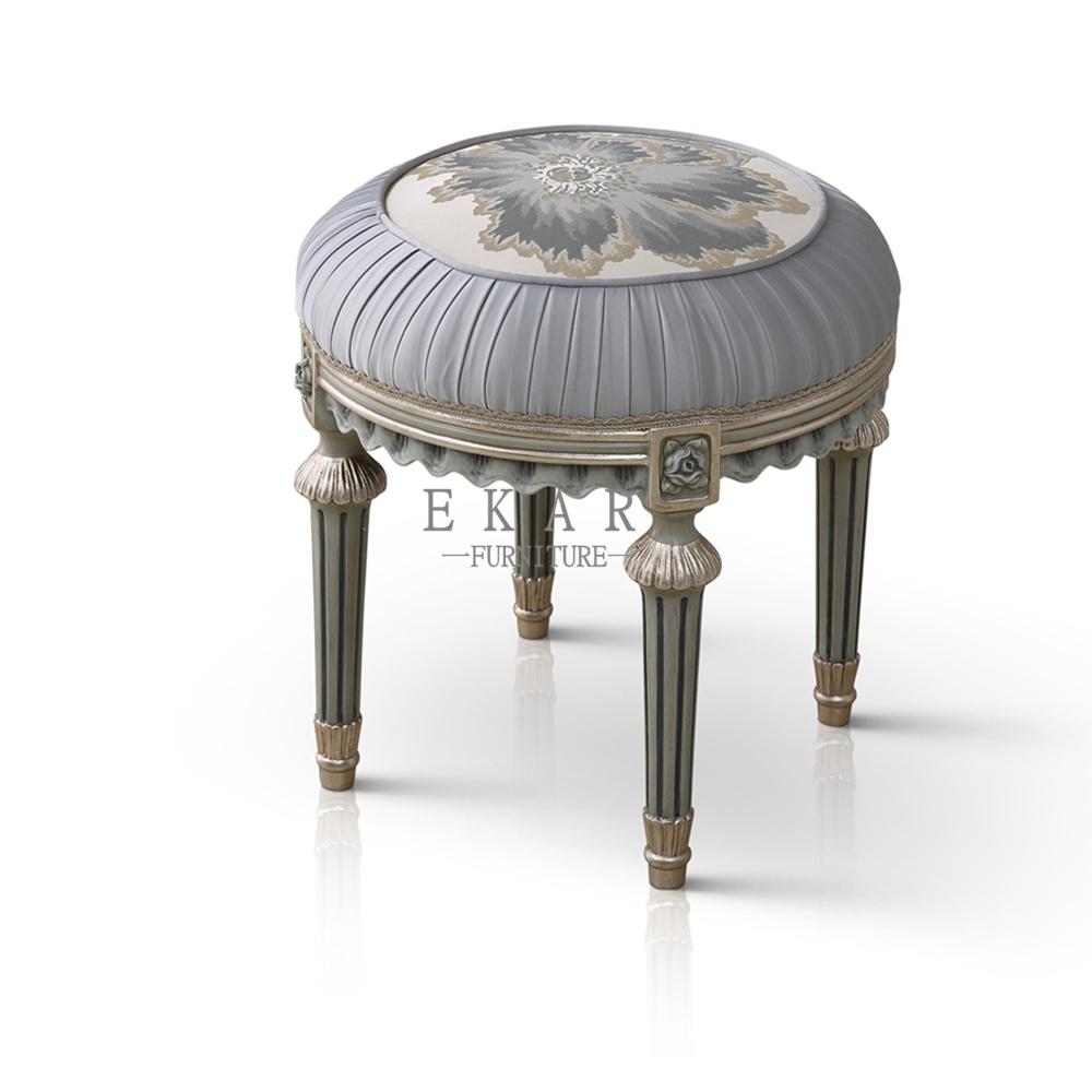 Small Round Grey Bedroom Furniture Dressing Stools Vanity