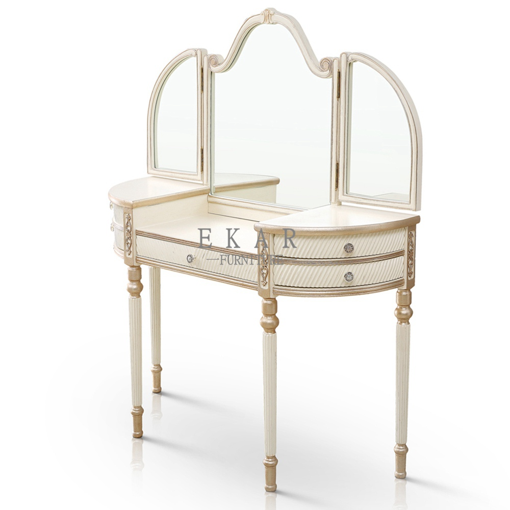 White dressing table with drawers and mirrormakeup tabledressing height 1500 mm watchthetrailerfo