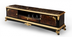 Classic Design Antique Italian Luxury French Style Marble TV Stands/TV Shelf/TV Cabinet