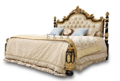 New White Leather Queen Size Bed Headboard Mattress