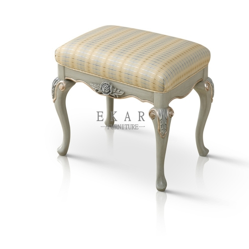 Bedroom Furniture Small Wooden Striped Vanity Stool/Vanity Seat/Bedroom Stool/Dressing Stool