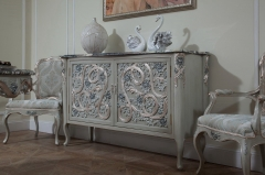 Luxury Furniture Lobby Marble Top Storage Sideboard/ Cabinet /Meals Side