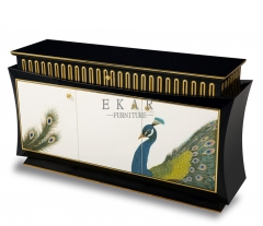 Hand Painting Peacock Chinese Style Sideboard/Diningroom Sets/Hotel Furniture