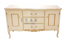 China Furniture White Teak Sideboard/Meals Side