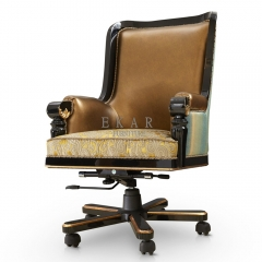 Home Office Furniture With Wheels Leather Office Chair