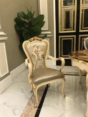 Wooden Upholstered Dining Room Chair