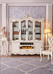 Wooden Glass Whiskey Dining Room Cabinet