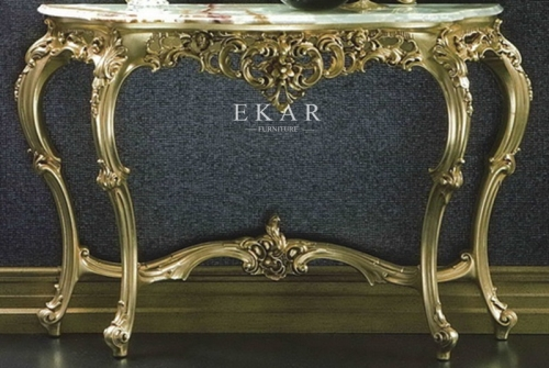 Luxury Carved Console Tables For Entryway
