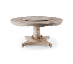Luxury European Design Solid Round Ash Wood Dining Table
