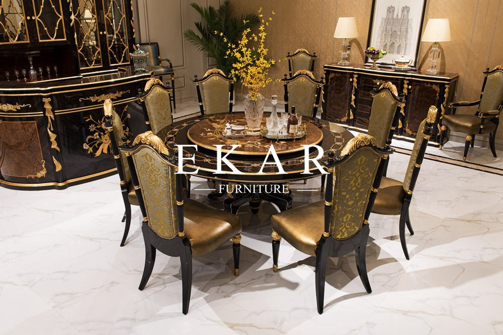 2.8M Antique Customized Luxury Design Round Dining Table